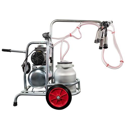 Aparat de muls vaci EMT, un bidon aluminiu 40 litri, un post - vintex - vedere butelie