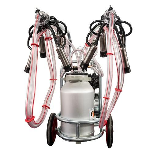 Aparat de muls vaci EMT, un bidon aluminiu 40 litri, 2 posturi - vintex - vedere ansamblu