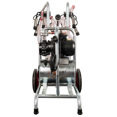Aparat de muls vaci EMT, un bidon aluminiu 30 litri, 2 posturi - vintex - vedere spate
