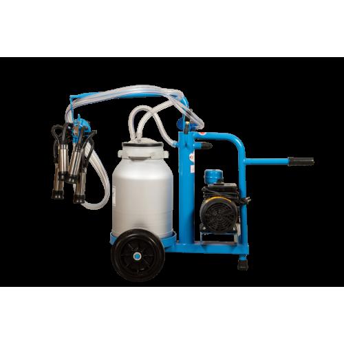 Aparat de muls vaci EMT BLUE, un bidon aluminiu 30 litri, un post - vintex