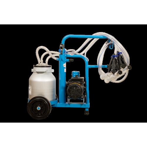 Aparat de muls oi si capre EMT BLUE, un bidon aluminiu 25 litri, 2 posturi - vintex