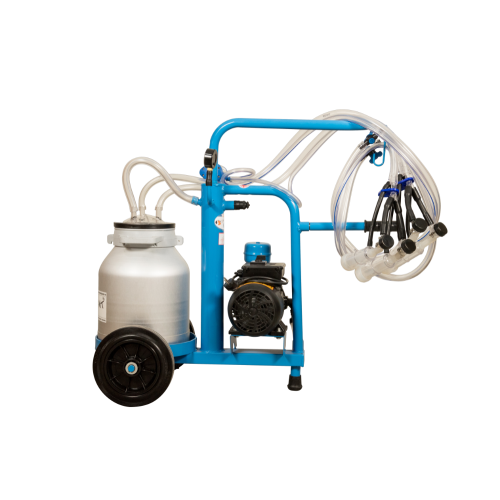 Aparat de muls oi si capre EMT BLUE, un bidon aluminiu 30 litri, 2 posturi - vintex